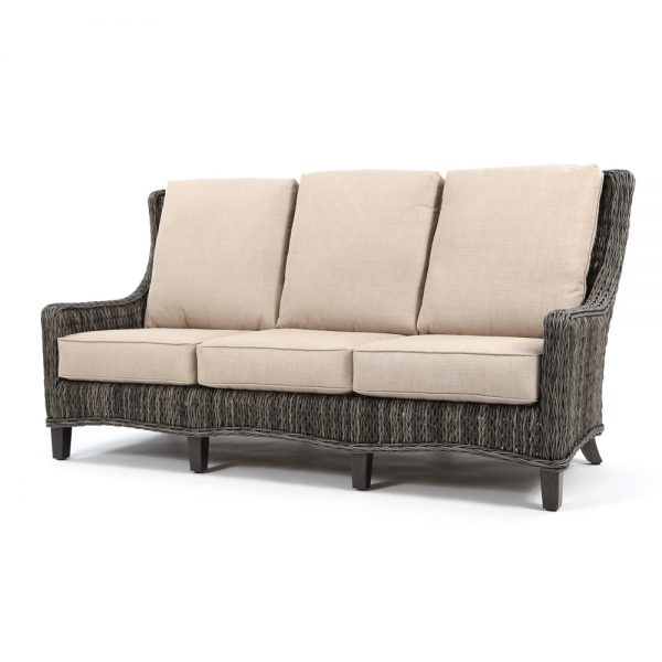 Geneva wicker sofa with a Smoke finish
