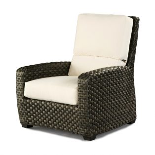 Leeward high back wicker lounge chair