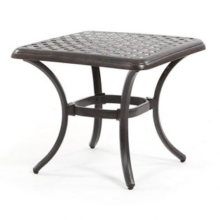 "Heritage 20"" square side table from Agio"