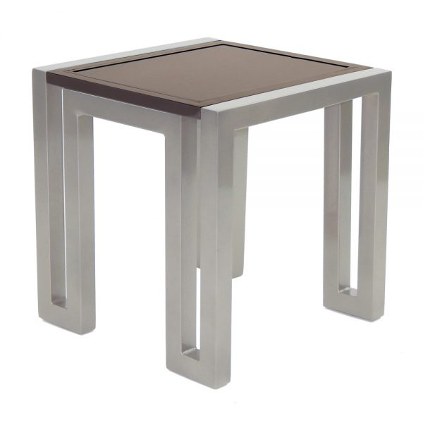 """Castelle 20"""" square icon side table"""