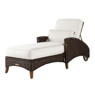 Island Estate Lanai wicker chaise lounge