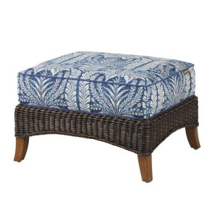 Island Estate Lanai outdoor wicker ottoman