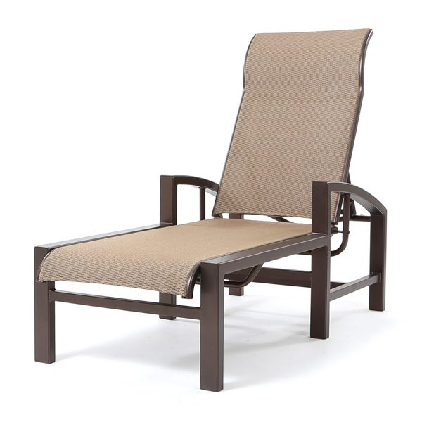 Lakeside sling adjustable chaise lounge