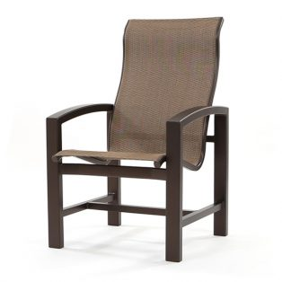 Lakeside sling high back dining chair