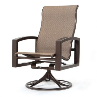 Lakeside sling high back swivel rocker