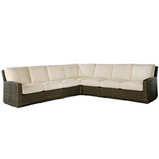Leeward large outdoor wicker sectional