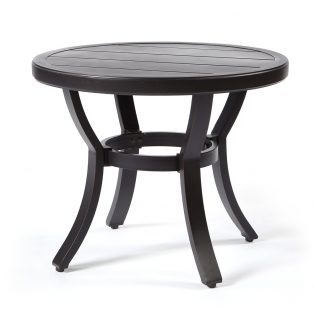 "Sunvilla 22"" round slat top end table"
