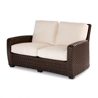 Leeward wicker loveseat with cushions