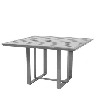 "Castelle 44"" square slat top Moderna dining table"