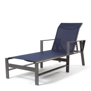Trento sling chaise lounge