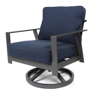 Luxe swivel rocker lounge chair