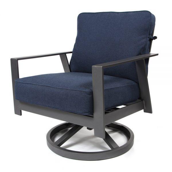 Luxe swivel rocker lounge chair