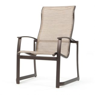 Mainsail sling high back dining chair