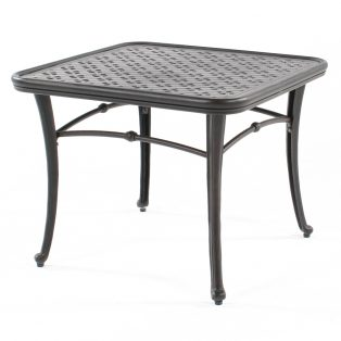 "28"" square cast aluminum end table"