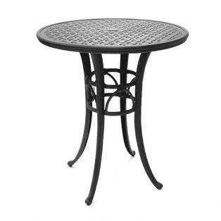 "Mallin 36"" round bar table with Autumn Rust finish"