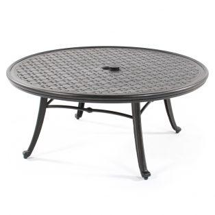 "42"" round cast aluminum cocktail table"
