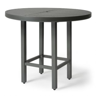 "Mallin 42"" round slat top bar height table"