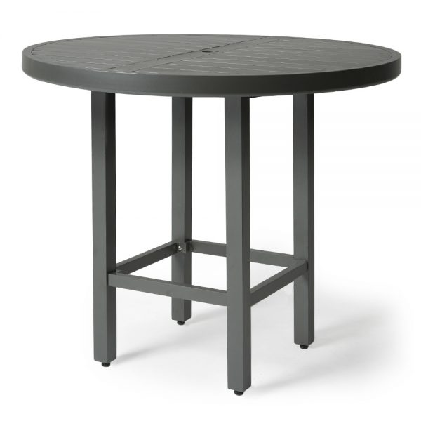 "Mallin 42"" round slat top bar height table"