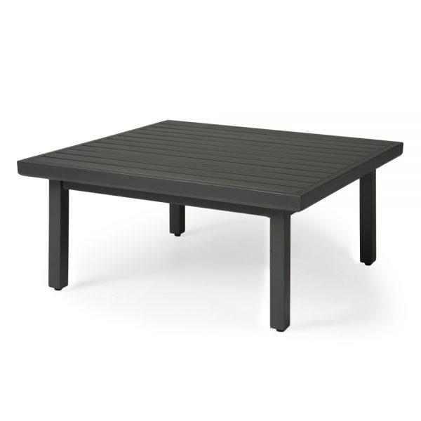 "Mallin 42"" square slat top coffee table"