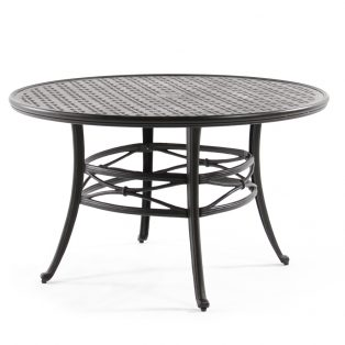 "Mallin 48"" cast aluminum outdoor dining table"