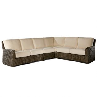 Leeward medium outdoor patio wicker sectional