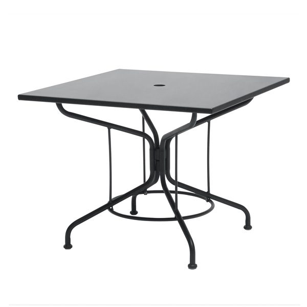 """Mercury 36"""" square solid top dining table - Shown with Textured Black finish"""