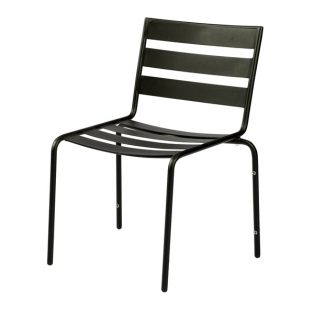Metro dining chair with textured black finish