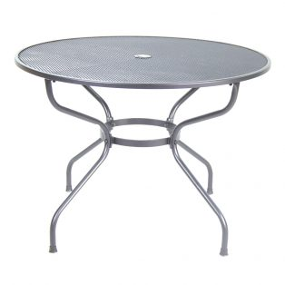 "Monaco 42"" round mesh top dining table"