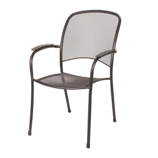 Monaco stacking dining arm chair with a Black finish