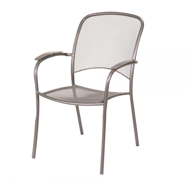 Monaco stacking dining chair with Graphite finish