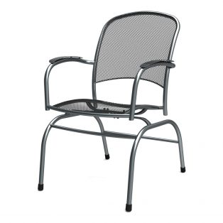 Monaco spring action chair with Graphite finish