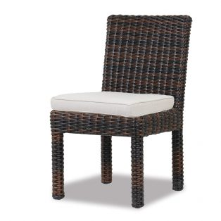 Montecito wicker armless dining chair