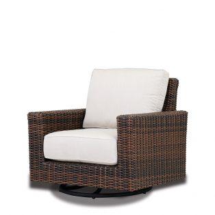 Montecito wicker swivel rocker club chair