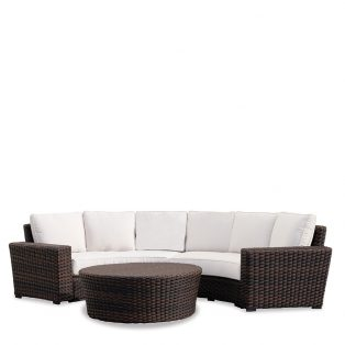 Montecito wicker curved sectional set