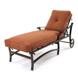 Monterey adjustable chaise lounge with wheels