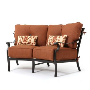Monterey curved love seat