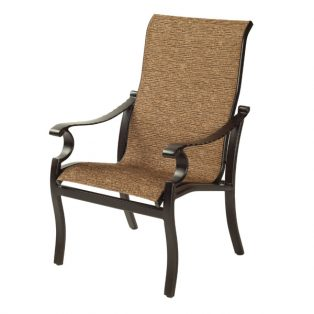 Monterey Sling dining chair with Corcovado Oak sling fabric