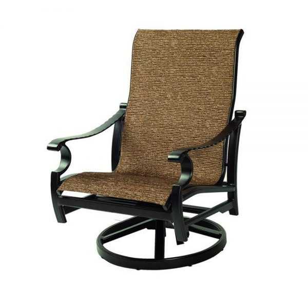 Monterey sling patio lounge swivel rocker