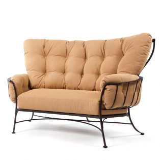 Monterra cuddle chair with Canyon Russet cushions