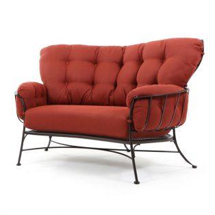 Monterra cuddle chair with Merlot cushions