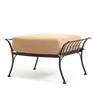 Monterra ottoman with Canyon Russet fabric