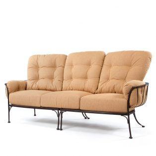 Monterra three seat sofa with Canyon Russet cushions