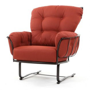 Monterra spring base club chair with Merlot cushions