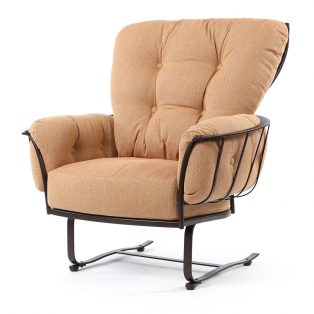 Monterra spring base club chair with Canyon Russet cushions