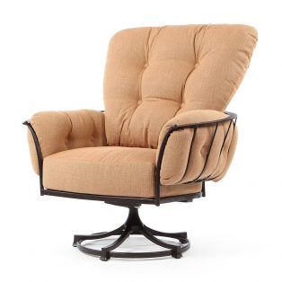 Monterra swivel rocker club chair with Canyon Russet cushions