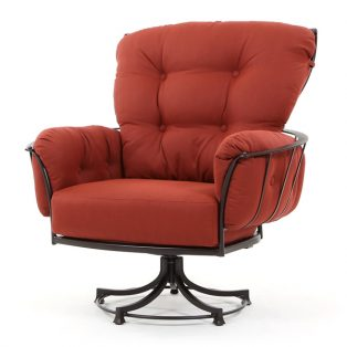 Monterra swivel rocker club chair with Merlot cushions