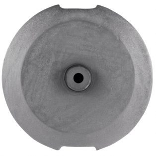 Optional market umbrella base weight  top view