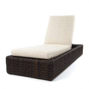 Orsay chaise lounge with Espresso weave and Chartres Malt cushions
