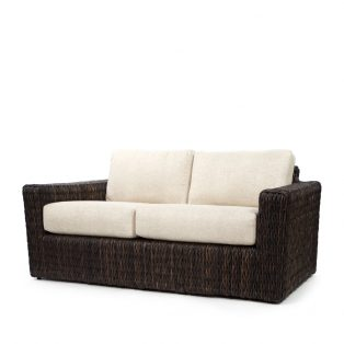 Orsay loveseat with Espresso weave and Chartres Malt cushions