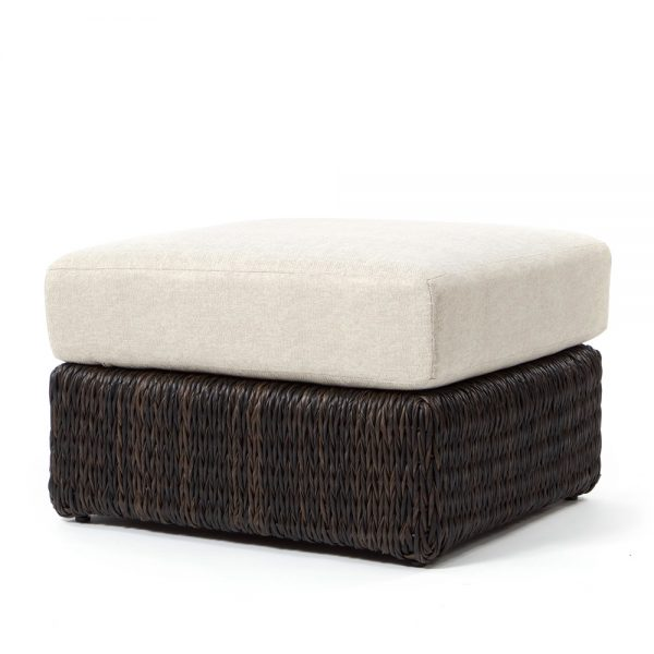 Orsay ottoman with Espresso weave and a Chartres Malt cushion